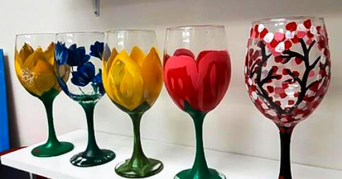 Wine Glass Painting Byob Painting Classes New York