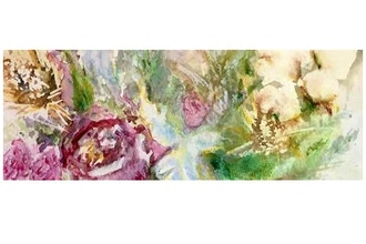 Expressionistic Seasonal Florals in Watercolor and Ink