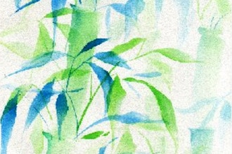 Watercolors Inspired by Chinese Brush Painting