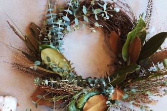 Holiday Wreath Making at A Village of Flowers