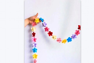 Create Paper Flower Garland (Via Zoom)