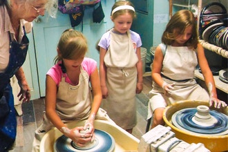 Wheel Hand Ceramics Day Camp Ages 6 14 Kids Pottery