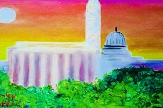 Paint & Sip: DC Memorial in Pink