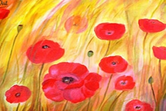 Paint & Sip: Filed of Poppies