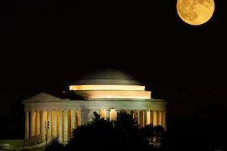 Full Moonrise Over the Jefferson Memorial