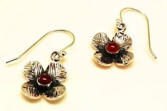 Sterling Silver Passion Flower Earrings