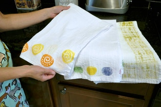 Painted Dish Towels
