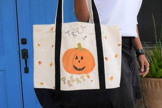 Trick-or-Treat Zippered Canvas Bag