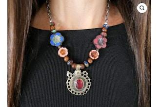 Jewel Tones in Bloom Necklace