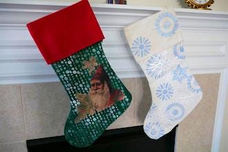 Canvas Christmas Stocking