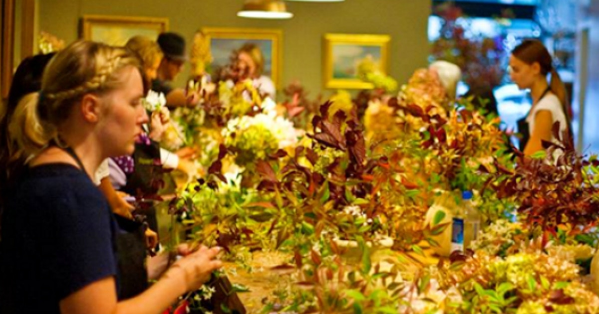 A Thanksgiving Beginners Open Studio Floral Design Classes New