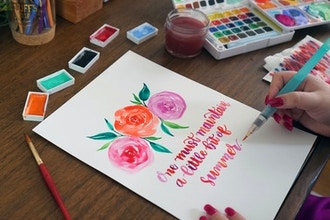 Watercolor Florals & Calligraphy