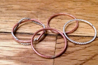 Introduction to Jewelry Making: Stacked Rings