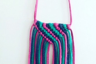 Macrame T-Shirt Yarn Necklaces