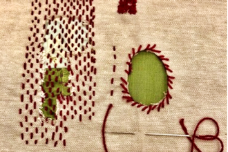 Visible Mending: Sashiko and Woven Patches