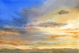 How to Paint the Sky's Moods in Watercolor
