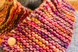 Knitting 101 - cozy neck warmer