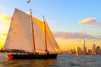 Mimosa Sail on Schooner America 2.0
