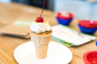 Ice Cream Cone Cupcakes (Ages 2-5 w/ Caregiver)