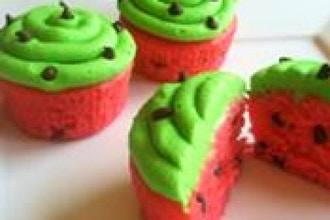 Watermelon Cupcakes (Ages 2-5 w/ Caregiver)