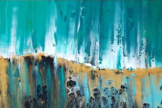 Liquid Acrylics & Resin Painting - Abstract Painting Classes San