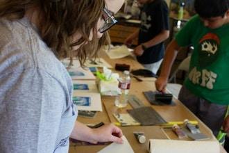 Linoleum Block Printing Camp
