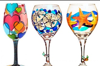 Wine Glass and Beer Mug Painting