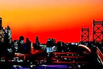 Sunset with Chicago Skyline