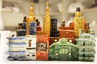 Sculpture: Small Buildings in Clay