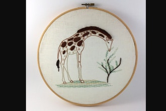 Introduction to Embroidery: Animal Contemporary