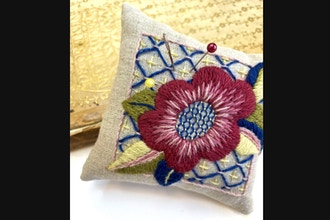 May Morris-Inspired Pincushion (Virtual Class)