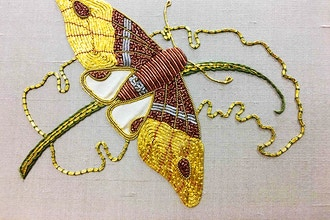 Goldwork Moth (Virtual Class)
