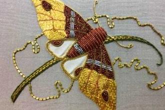 Beginner's Goldwork Butterfly