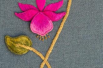Embroidery - Stumpwork: Fuchsia