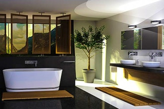 Residential Bathroom Design Material and Surfaces