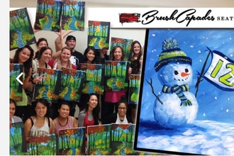 BYOB Painting: Learn to Paint a Fun Snowman!