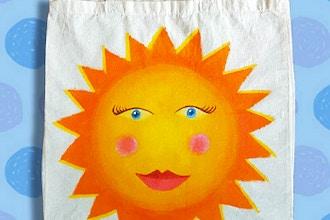 Virtual Camp - Sun, Moon & Stars – Painting & Stitching