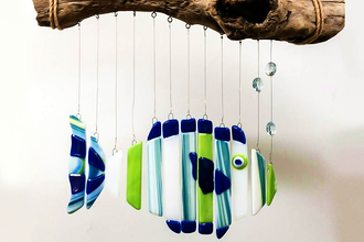 Fused Wind Chimes Glass Fusing Classes Los Angeles