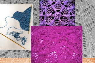Knitted Lace: Organic Design within Geometric Shapes