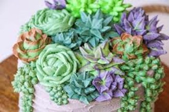 Buttercream Succulent Flowers