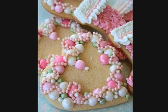 Let's Be Valentines Royal Icing Cookie