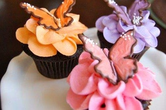 Teen and Tween Cupcakes Flowers and Butterflies