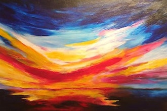 Finger-Painting for Grown-Ups: Abstract Sunset