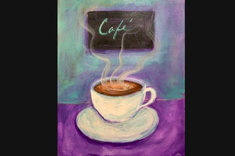 Online Acrylic Painting: Cafe'