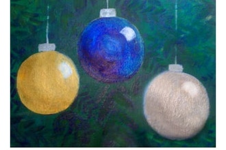 Acrylic Painting: Christmas Bulbs