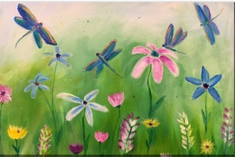 Acrylic Painting: Dragonfly Dreams