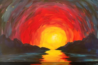 Finger Painting for Grown-Ups: Impressionist Sunset