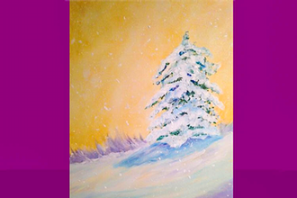 Acrylic Painting: Colors of Winter
