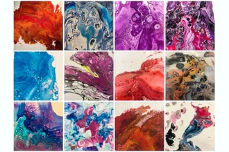 Fluid Acrylic Paint Pouring
