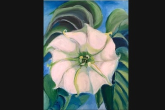 Online Acrylic Painting: O'Keefe's Jimson Weed
